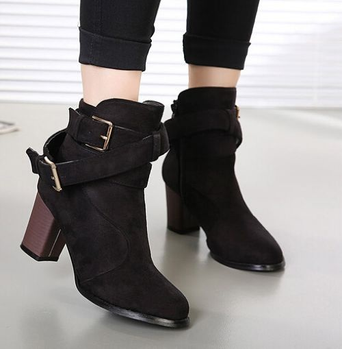 buy-fashion-buckle-high-heels-women-boots-online-shopping-india--7454